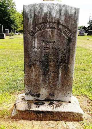 COE, CLARRISSA E. - Trumbull County, Ohio   CLARRISSA E. COE - Ohio Gravestone Photos