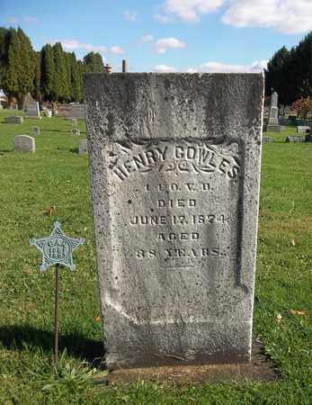 COWLES, HENRY - Trumbull County, Ohio | HENRY COWLES - Ohio Gravestone Photos