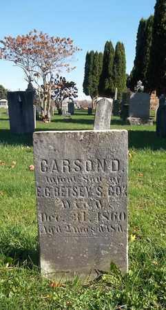 COX, CARSON D. - Trumbull County, Ohio   CARSON D. COX - Ohio Gravestone Photos