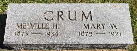 CRUM, MARY W. - Trumbull County, Ohio | MARY W. CRUM - Ohio Gravestone Photos