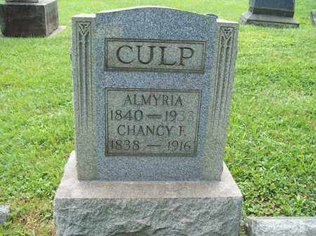 CULP, ALMYRIA - Trumbull County, Ohio | ALMYRIA CULP - Ohio Gravestone Photos
