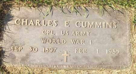 CUMMINS, CHARLES E. - Trumbull County, Ohio | CHARLES E. CUMMINS - Ohio Gravestone Photos