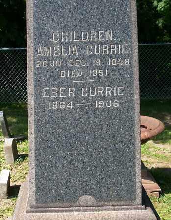 CURRIE, EBER - Trumbull County, Ohio | EBER CURRIE - Ohio Gravestone Photos