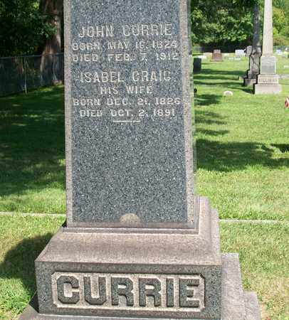 CRAIG CURRIE, ISABEL - Trumbull County, Ohio | ISABEL CRAIG CURRIE - Ohio Gravestone Photos