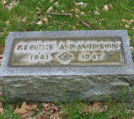 DAVIDSON, GEORGE A. - Trumbull County, Ohio   GEORGE A. DAVIDSON - Ohio Gravestone Photos