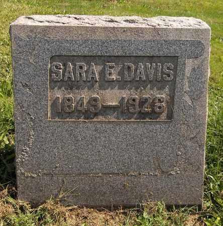 DAVIS, SARA E. - Trumbull County, Ohio | SARA E. DAVIS - Ohio Gravestone Photos