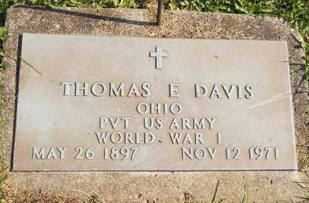 DAVIS, THOMAS E. - Trumbull County, Ohio | THOMAS E. DAVIS - Ohio Gravestone Photos
