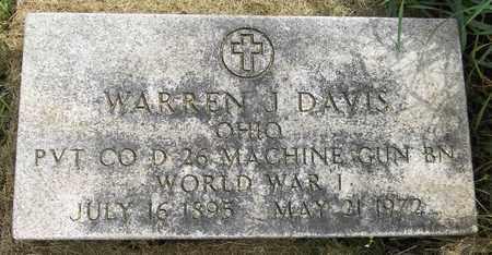 DAVIS, WARREN J. - Trumbull County, Ohio | WARREN J. DAVIS - Ohio Gravestone Photos