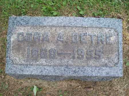 DETRE, CORA A. - Trumbull County, Ohio | CORA A. DETRE - Ohio Gravestone Photos