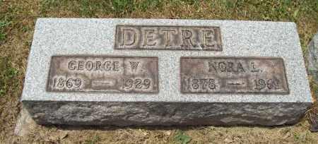 DETRE, NORA L. - Trumbull County, Ohio | NORA L. DETRE - Ohio Gravestone Photos