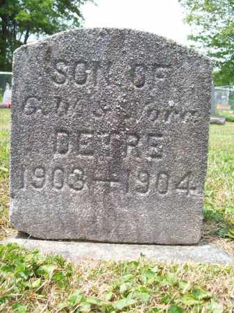 DETRE, IRA - Trumbull County, Ohio | IRA DETRE - Ohio Gravestone Photos