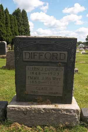 DIFFORD, CLAIR H. - Trumbull County, Ohio | CLAIR H. DIFFORD - Ohio Gravestone Photos