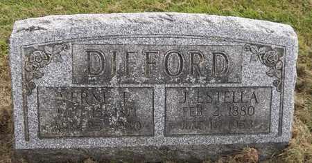 DIFFORD, J. ESTELLA - Trumbull County, Ohio   J. ESTELLA DIFFORD - Ohio Gravestone Photos