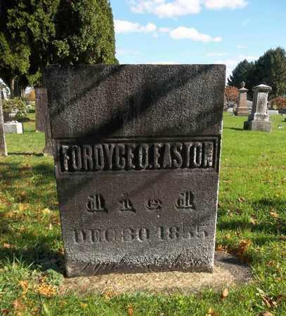 EASTON, FORDYCE O. - Trumbull County, Ohio | FORDYCE O. EASTON - Ohio Gravestone Photos