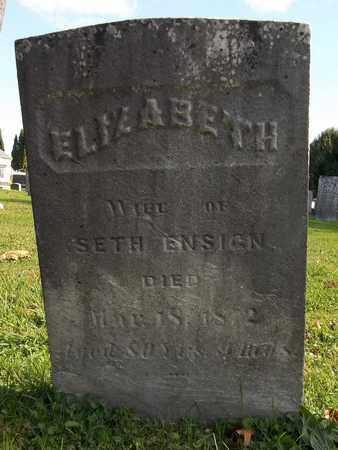 ENSIGN, ELIZABETH - Trumbull County, Ohio   ELIZABETH ENSIGN - Ohio Gravestone Photos