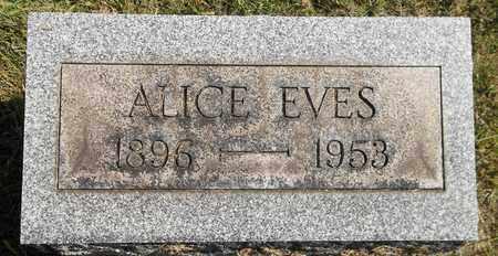 EVES, ALICE - Trumbull County, Ohio   ALICE EVES - Ohio Gravestone Photos