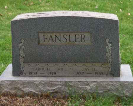 FANSLER, JAY D. - Trumbull County, Ohio   JAY D. FANSLER - Ohio Gravestone Photos