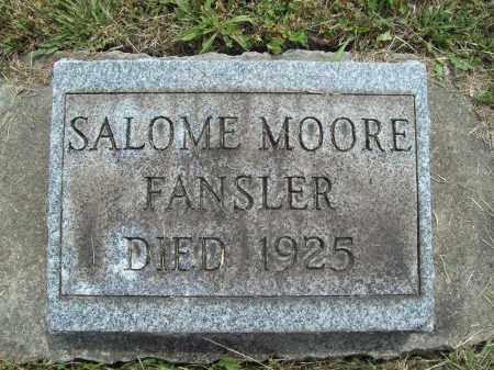 MOORE FANSLER, SALOME K. - Trumbull County, Ohio | SALOME K. MOORE FANSLER - Ohio Gravestone Photos