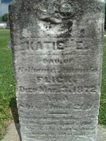FLICK, KATIE E. - Trumbull County, Ohio | KATIE E. FLICK - Ohio Gravestone Photos