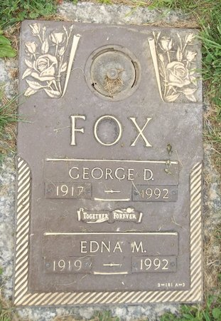 FOX, EDNA M. - Trumbull County, Ohio | EDNA M. FOX - Ohio Gravestone Photos