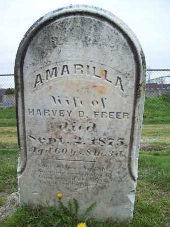 FREER, AMARILLA - Trumbull County, Ohio   AMARILLA FREER - Ohio Gravestone Photos