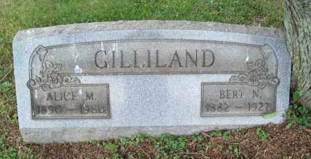 GILLILAND, BERT N. - Trumbull County, Ohio | BERT N. GILLILAND - Ohio Gravestone Photos