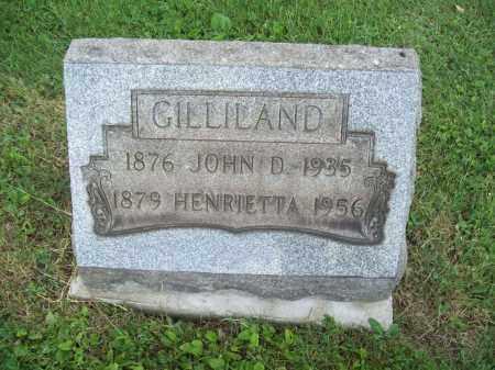GILLILAND, HENRIETTA - Trumbull County, Ohio   HENRIETTA GILLILAND - Ohio Gravestone Photos