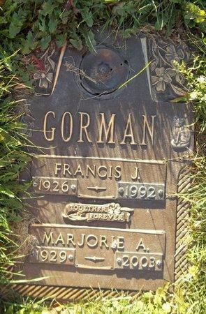 GORMAN, MARJORIE A. - Trumbull County, Ohio | MARJORIE A. GORMAN - Ohio Gravestone Photos