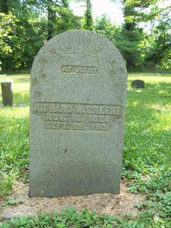 GREENE, RICHARD W. - Trumbull County, Ohio | RICHARD W. GREENE - Ohio Gravestone Photos