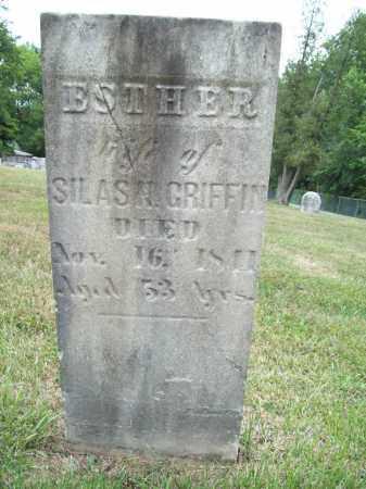 GRIFFIN, ESTHER - Trumbull County, Ohio | ESTHER GRIFFIN - Ohio Gravestone Photos