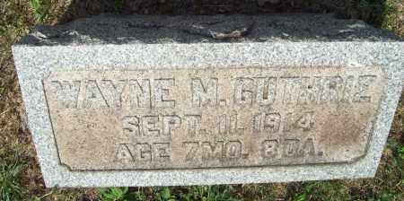 GUTHRIE, WAYNE MARSHALL - Trumbull County, Ohio | WAYNE MARSHALL GUTHRIE - Ohio Gravestone Photos