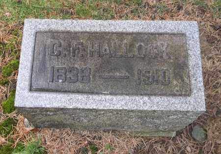 HALLOCK, CHARLES F. - Trumbull County, Ohio | CHARLES F. HALLOCK - Ohio Gravestone Photos