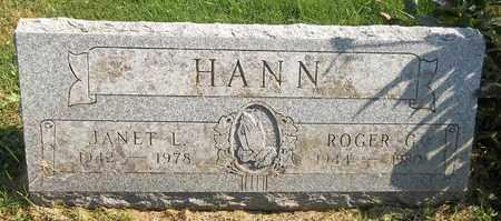 HANN, JANET L. - Trumbull County, Ohio | JANET L. HANN - Ohio Gravestone Photos