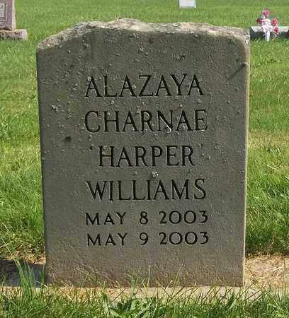 HARPER WILLIAMS, ALAZAYA CHARNAE - Trumbull County, Ohio | ALAZAYA CHARNAE HARPER WILLIAMS - Ohio Gravestone Photos