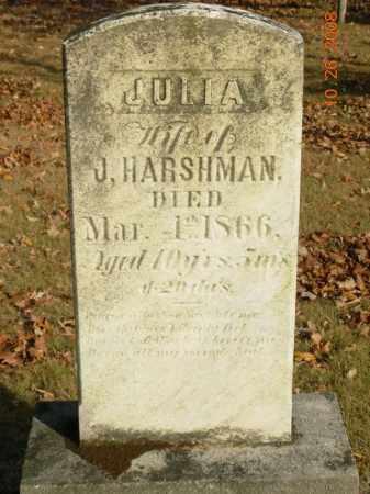 HARSHMAN, JULIA - Trumbull County, Ohio | JULIA HARSHMAN - Ohio Gravestone Photos