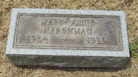 HARSHMAN, MARY ALICE - Trumbull County, Ohio | MARY ALICE HARSHMAN - Ohio Gravestone Photos