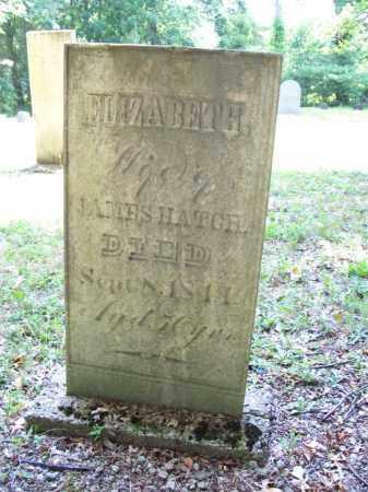 HATCH, ELIZABETH - Trumbull County, Ohio   ELIZABETH HATCH - Ohio Gravestone Photos