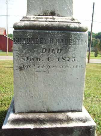 HAUGHTON, CHAUNCEY B. - Trumbull County, Ohio   CHAUNCEY B. HAUGHTON - Ohio Gravestone Photos