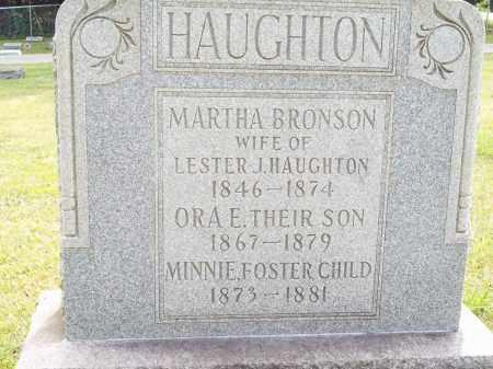 HAUGHTON, ORA E. - Trumbull County, Ohio | ORA E. HAUGHTON - Ohio Gravestone Photos