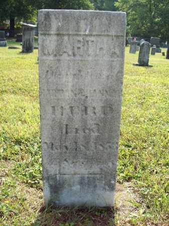 HURD, MARTHA - Trumbull County, Ohio | MARTHA HURD - Ohio Gravestone Photos