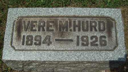 HURD, VERE M. - Trumbull County, Ohio   VERE M. HURD - Ohio Gravestone Photos
