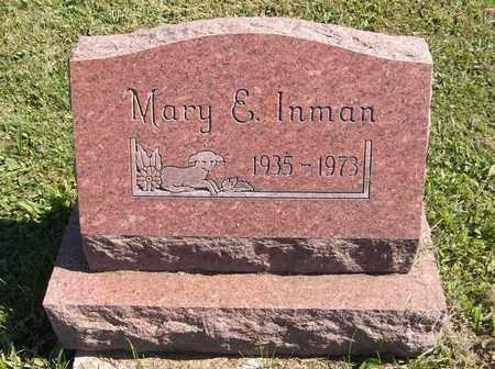 INMAN, MARY E. - Trumbull County, Ohio   MARY E. INMAN - Ohio Gravestone Photos