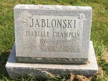 JABLONSKI, ISABELLE - Trumbull County, Ohio   ISABELLE JABLONSKI - Ohio Gravestone Photos