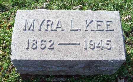 KEE, MYRA L. - Trumbull County, Ohio   MYRA L. KEE - Ohio Gravestone Photos