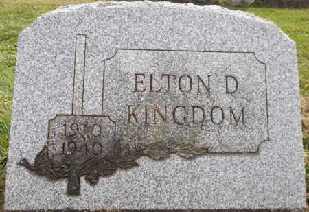 KINGDOM, ELTON D. - Trumbull County, Ohio | ELTON D. KINGDOM - Ohio Gravestone Photos