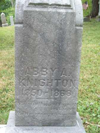 KNIGHTON, ABBY A. - Trumbull County, Ohio | ABBY A. KNIGHTON - Ohio Gravestone Photos
