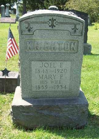 KNIGHTON, JOEL E. - Trumbull County, Ohio | JOEL E. KNIGHTON - Ohio Gravestone Photos