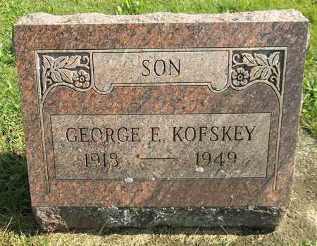KOFSKEY, GEORGE E. - Trumbull County, Ohio   GEORGE E. KOFSKEY - Ohio Gravestone Photos