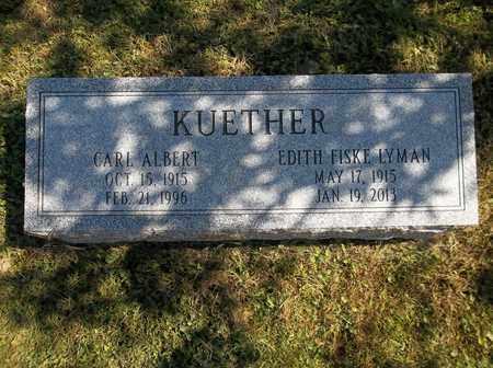 KUETHER, EDITH - Trumbull County, Ohio | EDITH KUETHER - Ohio Gravestone Photos