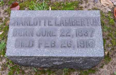 LAMBERTON, CHARLOTTE - Trumbull County, Ohio | CHARLOTTE LAMBERTON - Ohio Gravestone Photos
